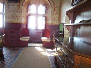 Walking through the doorway into the Banqueting Hall