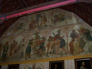 Wall decoration in the Banqueting Hall