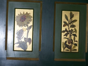 The panels in the Drawing Room