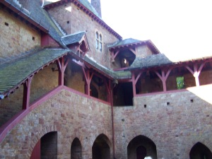 A view from the courtyard of Castle Mantovar (as seen in Castell Coch)