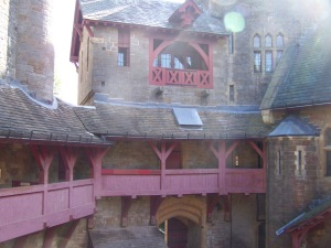 Another view from the courtyard of Castle Mantovar (Castell Coch)