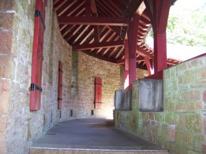 How's this for a long verandah! (Castell Coch)