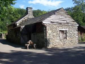 A grisly murder happens here in my fourth book (Blacksmith's shop St Fagans Castle)