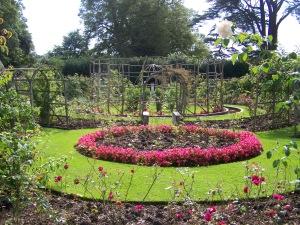 I fell in love with this garden. The rose garden at St Fagans Castle